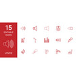 15 voice icons vector image vector image