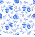 A simple winter seamless pattern vector image