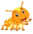 a yellow caterpillar cartoon vector image