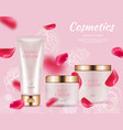 ad cosmetics poster realistic cream packaging vector image vector image