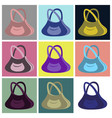 assembly flat icons handbag vector image vector image