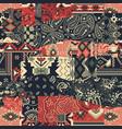 bandana paisley and native american motifs fabric vector image vector image