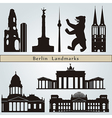 Berlin landmarks and monuments vector image
