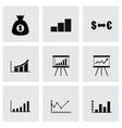 Black economic icon set