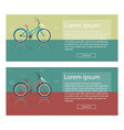bright of bike set colorful vector image vector image