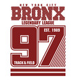 bronx t-shirt graphics vector image vector image