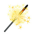 burning sparkler isolated on white background vector image