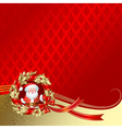 Christmas New Years greeting card vector image vector image