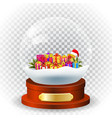 Christmas winter landscape globe vector image vector image