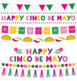 cinco de mayo holiday banners vector image