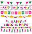cinco de mayo holiday banners vector image