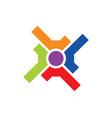 circle shape target colored logo vector image vector image