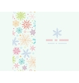 Colorful Doodle Snowflakes Horizontal Frame vector image
