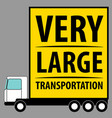 commercial vehicle background very large van for vector image vector image