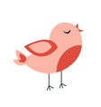 cute spring bird design vector image vector image