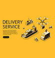 delivery service transport vector image