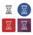 dotted icon hourglass in four variants with vector image