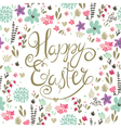 easter backgroung with spring flowers vector image vector image