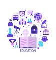 education design concept vector image vector image