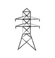 electricity tower distribution energy light vector image vector image