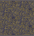 Engraving sketch flower seamless pattern