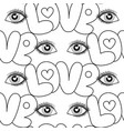 eyes and love seamless pattern vector image vector image