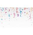 falling colorful ribbon vector image vector image