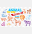 farm animals set in sketch style on colorful vector image vector image