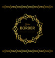 golden border and mandala frame vector image vector image