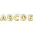 golden foil balloon alphabet symbols a-b-c-d-e