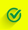 green check mark vector image