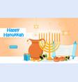 happy hanukkah holiday vector image vector image