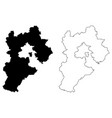 hebei province map vector image vector image