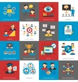 Human Resources Management Flat Icons Collection vector image
