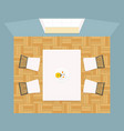 interior dining room view from above vector image