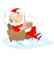 listening the radio santa claus vector image