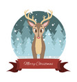 lovely reindeer with stylized background and vector image vector image
