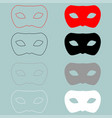 man mask or guise red black icon man mask or vector image vector image