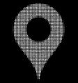 map pointer halftone icon vector image