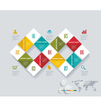Modern infographics set with rhombus abstract 3d vector image