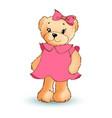 modest female teddy bear vector image vector image