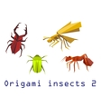 Origami insects set vector image