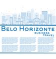 Outline Belo Horizonte Skyline vector image vector image