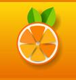 paper orange on orange background vector image