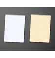 Realistic Paper Notepad Notebook vector image vector image