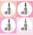 red lipstick icon set collection style contour vector image vector image