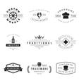 Retro Logotypes set vector image