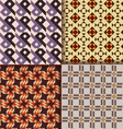 Retro triangle patterns background vector image vector image