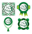Set of Halal signs vector image
