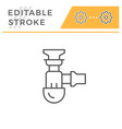 sewage siphon line icon vector image vector image